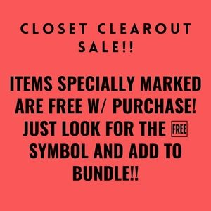 FREE W/ PURCHASE SALE!!